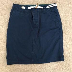 Anthropologie Navy Skirt